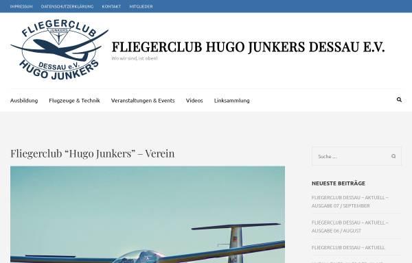 Vorschau von fchj.de, Fliegerklub Hugo Junkers Dessau e.V.