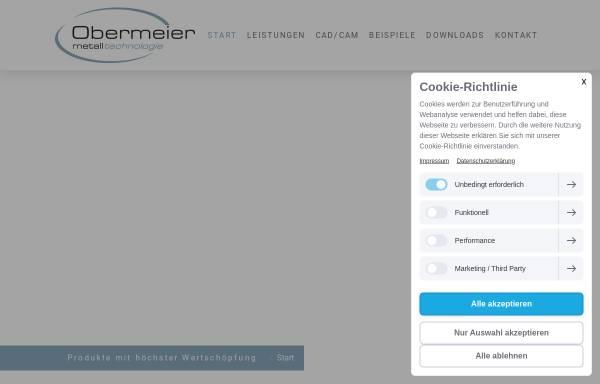 Vorschau von www.obermeier-metall.de, Obermeier Metallbearbeitung GmbH