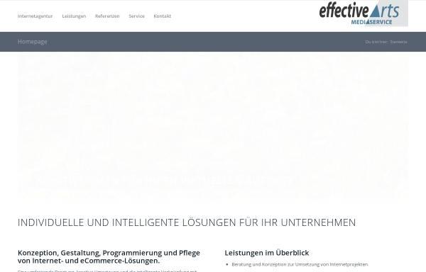 Vorschau von www.effective-arts.de, Effective Arts Mediaservice, Michael Schimpf