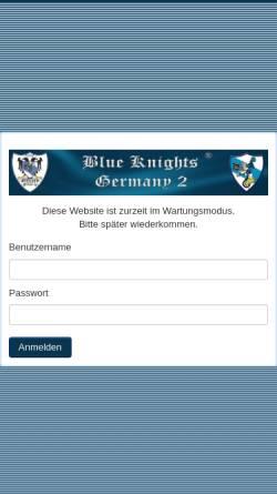 Vorschau der mobilen Webseite www.blueknights-germany2.de, Blue Knights Germany 2