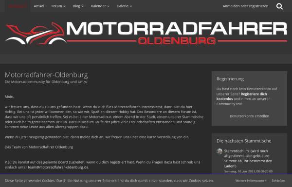 Vorschau von www.motorradfahrer-oldenburg.de, Motorradfahrer Oldenburg