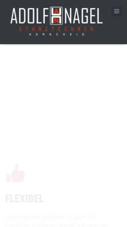 Vorschau der mobilen Webseite www.nagel-herscheid.de, Adolf Nagel GmbH