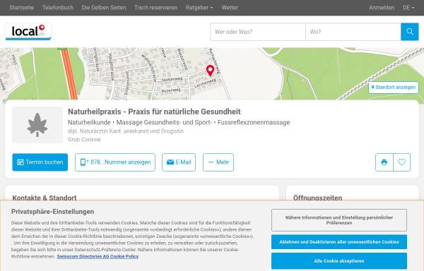 Gesundheitspraxis Corinne Grob in Recherswil (CH): Schweiz ...