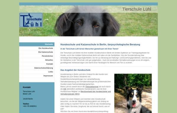 Vorschau von www.tierschule-luehl.de, Tierschule Lühl