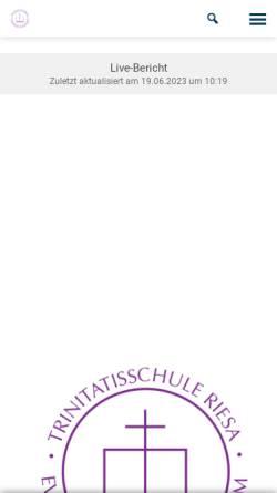 Vorschau der mobilen Webseite www.trinitatisschule-riesa.de, Trinitatisschule - Evangelisches Schulzentrum