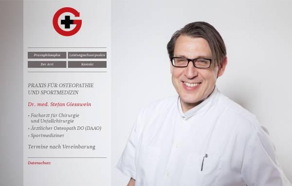 Vorschau von www.giesswein-medizin.de, Giesswein, Dr. med. Stefan