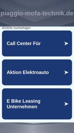 Vorschau der mobilen Webseite www.piaggio-mofa-technik.de, Piaggio-Mofa-Technik