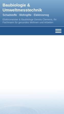 Vorschau der mobilen Webseite www.baubiologie-clemens.de, Dennis Clemens