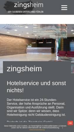 Vorschau der mobilen Webseite www.zingsheimgmbh.de, Zingsheim GmbH