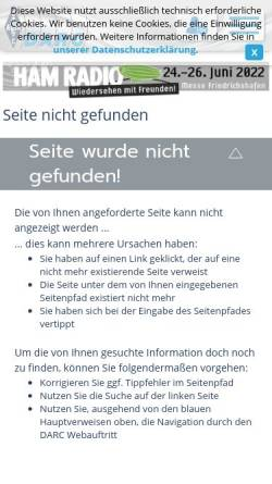 Vorschau der mobilen Webseite www.darc.de, Diplome aus dem DARC-Distrikt Saar