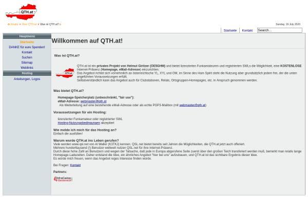 Vorschau von www.qth.at, FIRAC-OE-Diplom