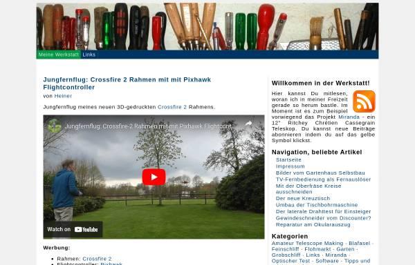 Vorschau von www.hobby-werkstatt-blog.de, Aus meiner Hobbywerkstatt