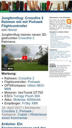 Vorschau der mobilen Webseite www.hobby-werkstatt-blog.de, Aus meiner Hobbywerkstatt