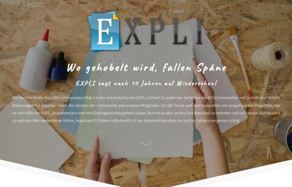 Vorschau von www.expli.de, Expli
