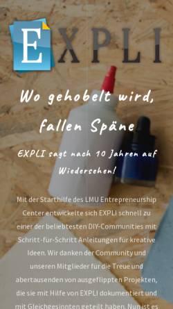 Vorschau der mobilen Webseite www.expli.de, Expli