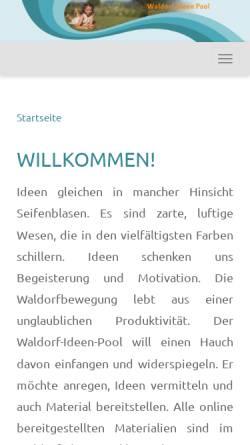 Vorschau der mobilen Webseite www.waldorf-ideen-pool.de, Waldorf-Ideen-Pool