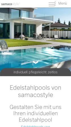 Vorschau der mobilen Webseite samacostyle.ch, Samaco Rain AG