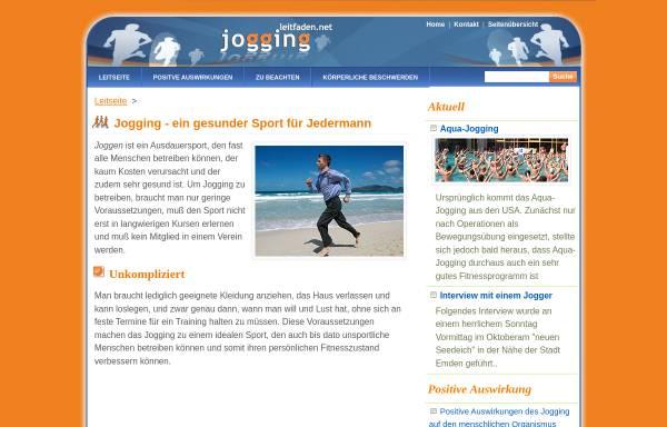 Vorschau von www.jogging.leitfaden.net, Jogging- Leitfaden
