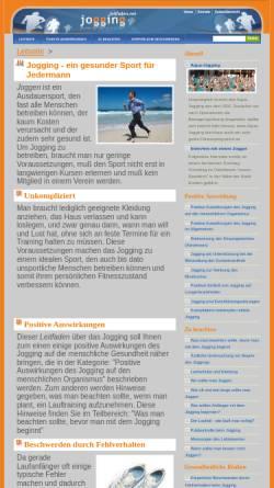 Vorschau der mobilen Webseite www.jogging.leitfaden.net, Jogging- Leitfaden