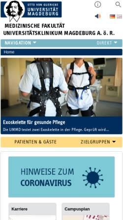 Vorschau der mobilen Webseite www.med.uni-magdeburg.de, Tumorzentrum Magdeburg/Sachsen-Anhalt e.V.