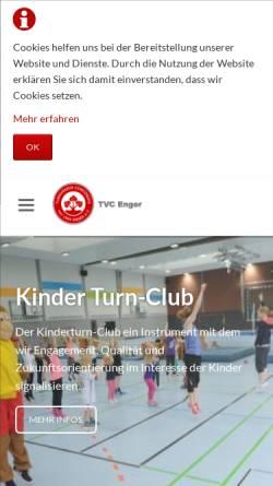 Vorschau der mobilen Webseite tvc-enger.de, Turnverein Concordia von 1864 Enger e.V.