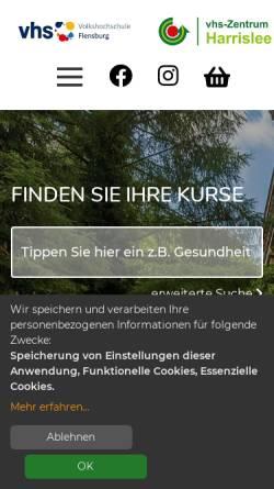Vorschau der mobilen Webseite www.vhs-flensburg.de, Volkshochschule Flensburg