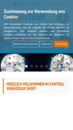 Vorschau der mobilen Webseite www.shop.santool.de, SanTool Werkzeuge GmbH