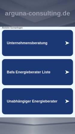 Vorschau der mobilen Webseite arguna-consulting.de, Arguna Consulting