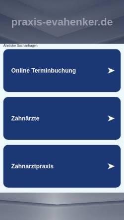 Vorschau der mobilen Webseite www.praxis-evahenker.de, Praxis Eva Henker