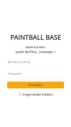 Vorschau der mobilen Webseite www.paintball-solms.de, Paintball Solms