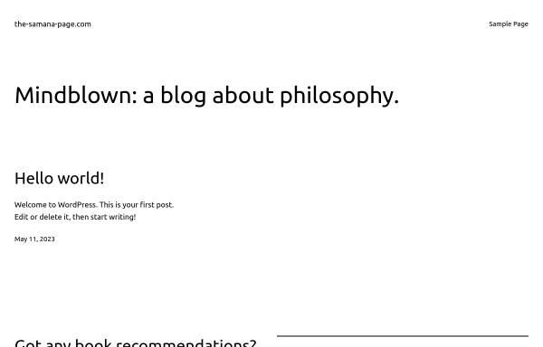 Vorschau von www.the-samana-page.com, Das Samana Portal