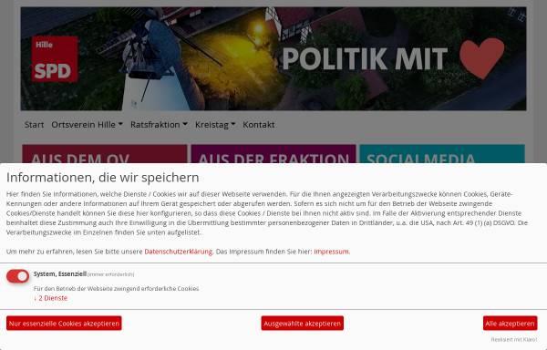 Vorschau von spd-hille.de, SPD Hille