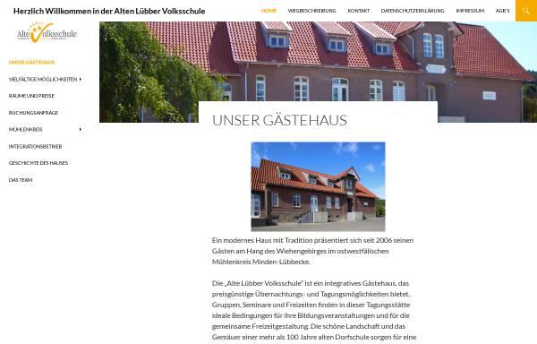 Vorschau von www.alte-luebber-volksschule.de, Alte Lübber Volksschule