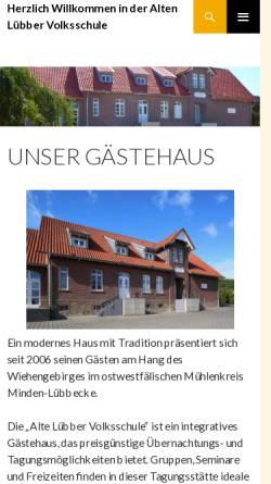 Vorschau der mobilen Webseite www.alte-luebber-volksschule.de, Alte Lübber Volksschule