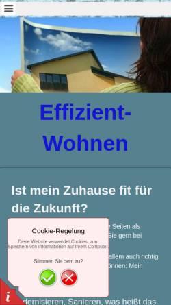 Vorschau der mobilen Webseite www.effizient-wohnen.de, Eming, Thomas