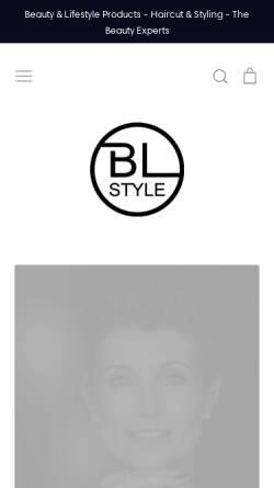 Vorschau der mobilen Webseite bl-style.de, BL-Style.com - Beauty & Lifestyle Products - Claudia Bruckmann
