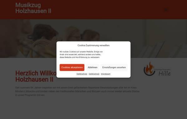 Vorschau von www.musikzug-holzhausen.de, Musikzug der Freiwilligen Feuerwehr Hille - Holzhausen II
