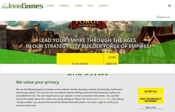 Vorschau von www.innogames.com, Innogames GmbH