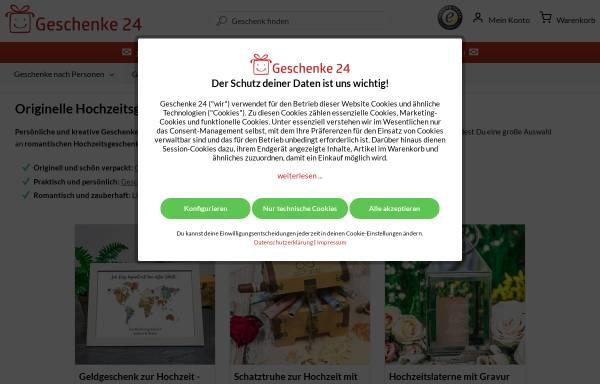 Vorschau von www.hochzeitsgeschenke.org, Geschenke 24 GmbH