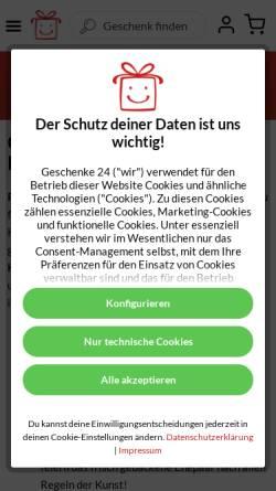 Vorschau der mobilen Webseite www.hochzeitsgeschenke.org, Geschenke 24 GmbH