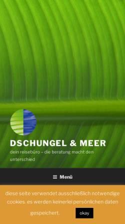 Vorschau der mobilen Webseite www.dschungel-meer.de, Dschungel & Meer, Inhaber Carsten Gerdsmeier