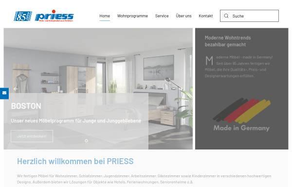 Vorschau von www.priess-moebel.de, Friedrich Priess GmbH & Co. KG