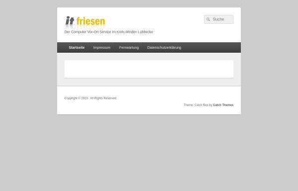 Vorschau von www.it-friesen.de, IT-Friesen, Inhaber Andreas Friesen