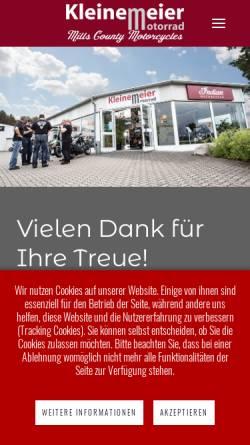 Vorschau der mobilen Webseite www.kleinemeier.de, Kleinemeier Motorradsport