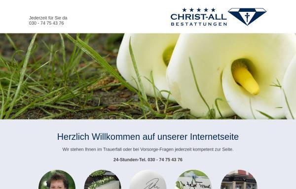 Vorschau von www.christ-all-bestattungen.de, Christ-all Bestattungen e. Kfm