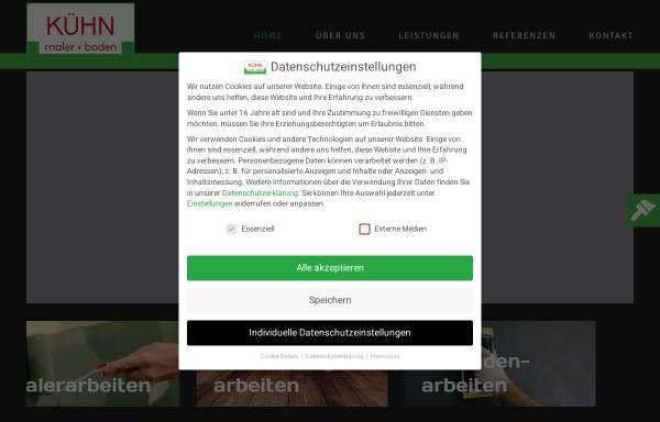 Vorschau von maler-boden.de, Kühn Maler und Boden GmbH & Co. KG
