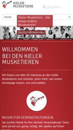 Vorschau der mobilen Webseite www.kieler-musketiere.com, Kieler Musketiere