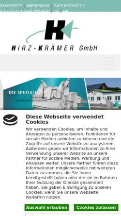 Vorschau der mobilen Webseite www.hirz-kraemer.de, Hirz-Krämer GmbH