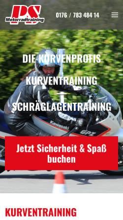 Vorschau der mobilen Webseite ps-motorradtraining.de, PS-Motorradtraining
