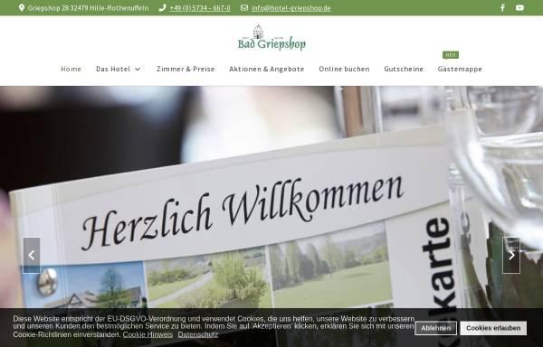 Vorschau von www.hotel-griepshop.de, Bad Griepshop